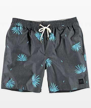 Globe Broker Kana Palm Printed shorts de baño con pretina elástica