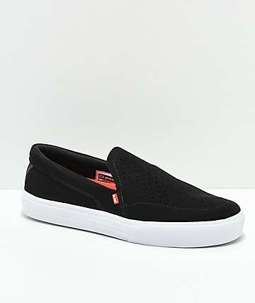 Globe Castro Lyt Black & White Slip-On Skate Shoes