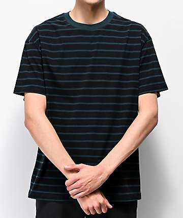 Globe Dion Agius Green & Black Striped T-Shirt