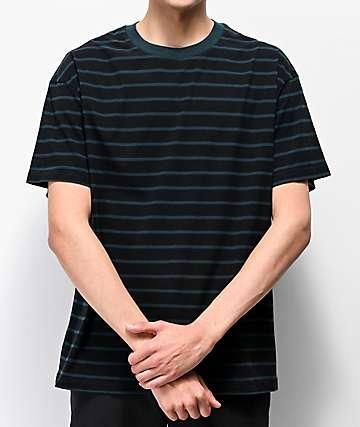 Globe Dion Agius Green & Black Striped T-Shirt