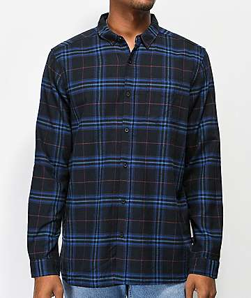 Globe Dock Blue & Navy Flannel Shirt