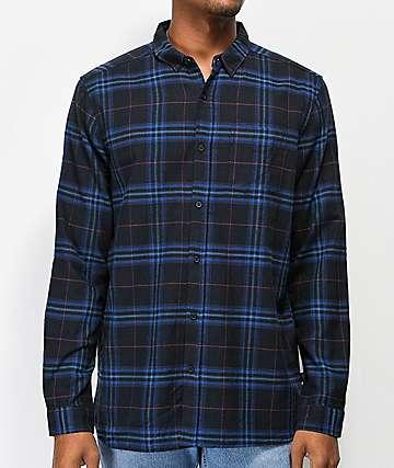 Globe Dock camisa de franela azul marino