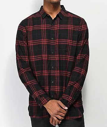 Globe Dock camisa de franela roja y negra