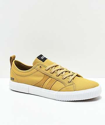 Globe Filmore zapatos de skate en color amarillo oscuro