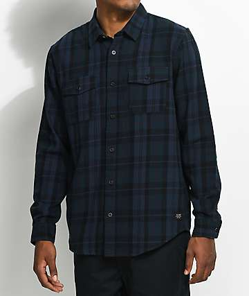 Globe Flanigan Marine & Black Flannel Shirt