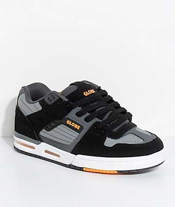 Globe Fury Black, Grey & Orange Skate Shoes