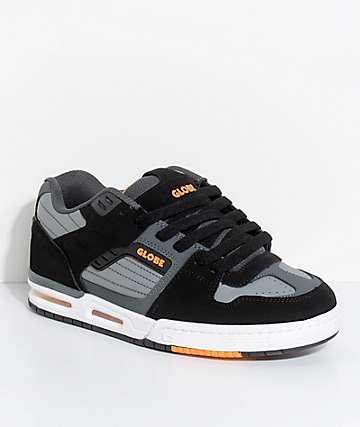 Globe Fury zapatos de skate en negro, gris y color naranja