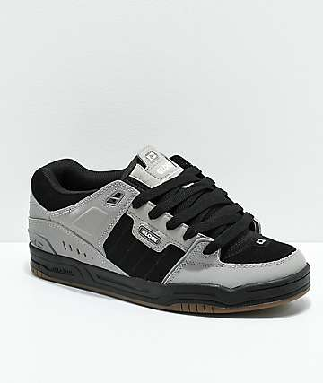 Globe Fusion Drizzle Grey & Black Skate Shoes