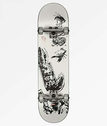 "Globe G1 Hard Luck White & Black 8.0"" Skateboard Complete"