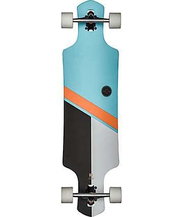 "Globe Geminon Sky & Orange 38.5"" Longboard Complete"