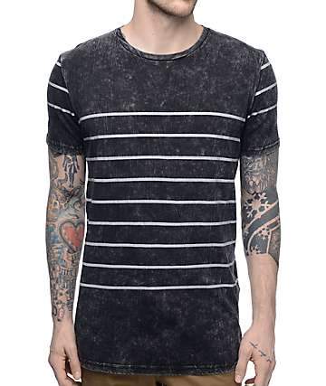 Globe Moonshine Black & White Striped T-Shirt