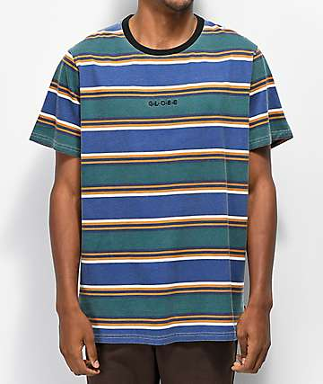 Globe Moonshine camiseta azul de rayas