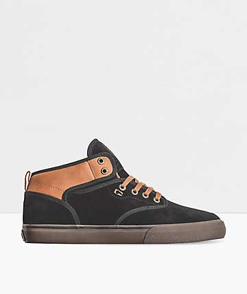 Globe Motley Mid Black, Toffee & Gum Skate Shoes
