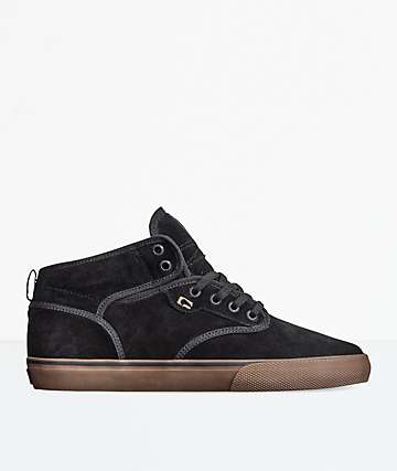 Globe Motley Mid Black & Tobacco Skate Shoes
