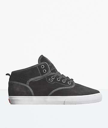 Globe Motley Mid Black & White Suede Skate Shoes