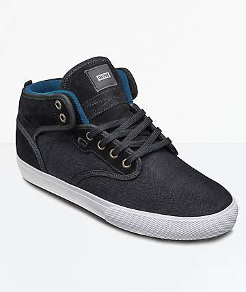 Globe Motley Mid Black Hemp Shoes