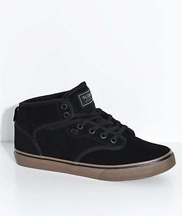 Globe Motley Mid Black Suede & Gum Skate Shoes