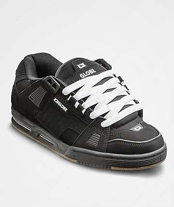 Globe Sabre Black, Black & Gum Skate Shoes