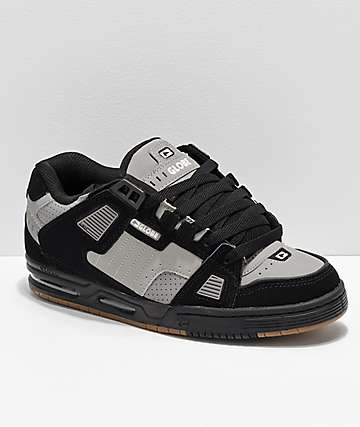 Globe Sabre Black, Grey & Gum Skate Shoes