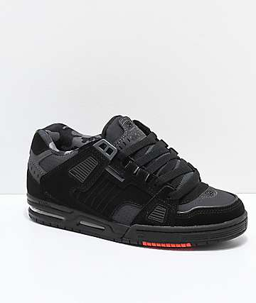 Globe Sabre Black, Night Grey & Red Skate Shoes