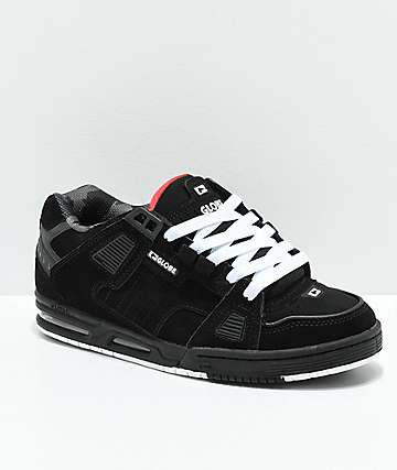 Globe Sabre Black & Red Skate Shoes