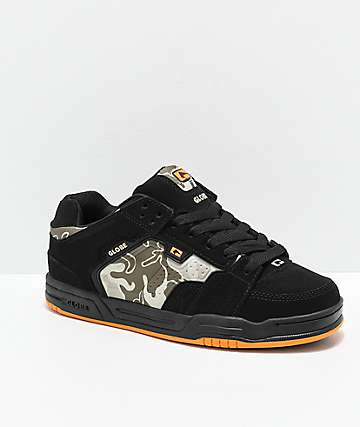 Globe Scribe Black, Camo & Orange Skate Shoes