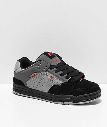Globe Scribe Grey, Black & Red Skate Shoes