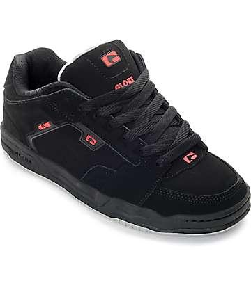 Globe Scribe zapatos de skate en negro y rojo