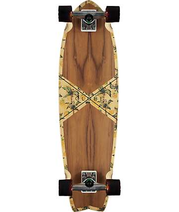"Globe Teak Pineapple Chromantic 9.25""  Cruise Complete Skateboard"