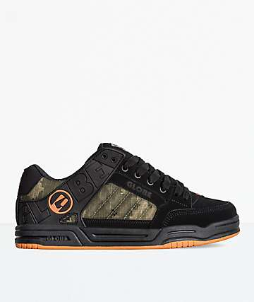 Globe Tilt Black, Camo & Orange Skate Shoes