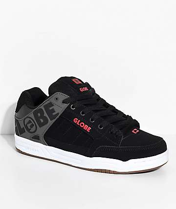 Globe Tilt Black, Charcoal & Red Skate Shoes