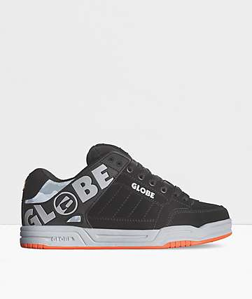Globe Tilt Black, Grey & Orange Skate Shoes