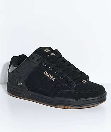 Globe Tilt Black & Camo Nubuck Skate Shoes