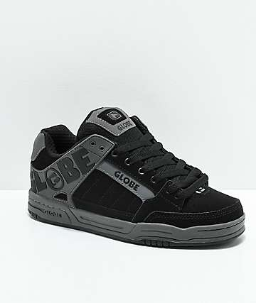 Globe Tilt Black & Charcoal Nubuck Skate Shoes