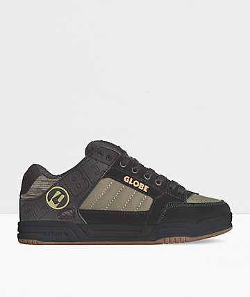 Globe Tilt Black & Olive Skate Shoes