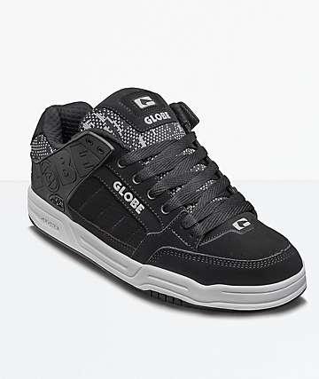 Globe Tilt Black Jacquard Shoes