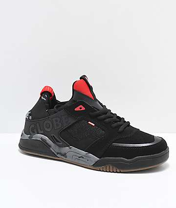 Globe Tilt Evo Black, Red & Camo Skate Shoes
