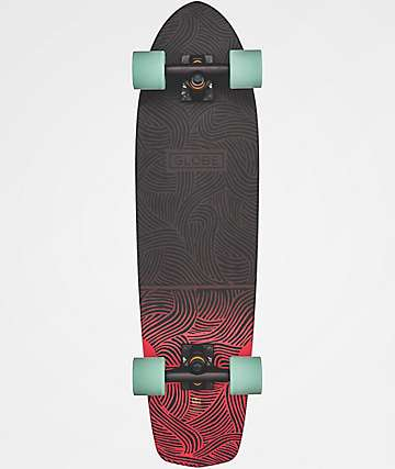 "Globe Tracer Classic Black & Salmon 31.25"" Cruiser Complete Skateboard"