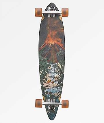 "Globe Tropic Lava 37.5"" Pintail Longboard Complete"