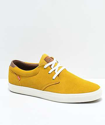 Globe Willow Gold & White Skate Shoes