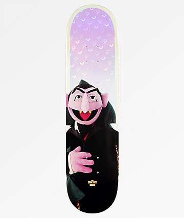 """Globe x Sesame Street Count Von Count 7.75"""" Skateboard Deck"""