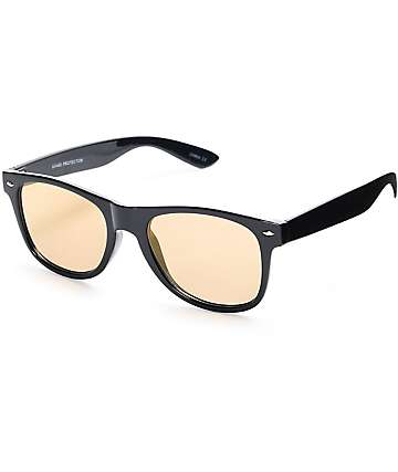 Gloss Black & Flat Gold Mirror Sunglasses