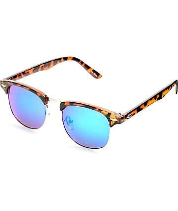 Gloss Tortoise, Gold & Green Sunglasses