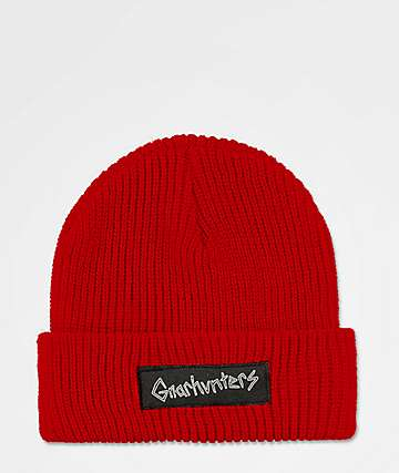 de2a1c0fb7a Gnarhunters Big Logo Red Beanie