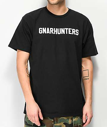 Gnarhunters College Black T-Shirt