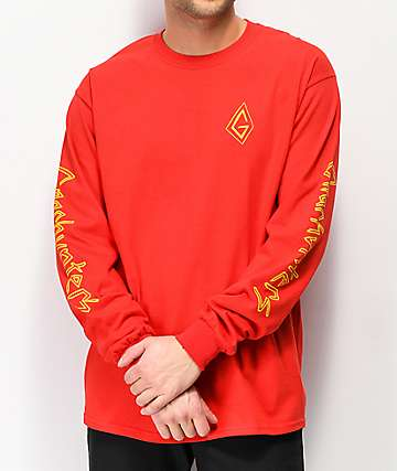 Gnarhunters G Classic Red Long Sleeve T-Shirt