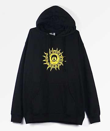 Gnarly Aztec Black Hoodie