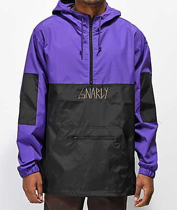 Gnarly Danorak 2 Purple & Black Anorak Jacket
