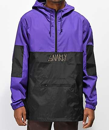 Gnarly Danorak 2 chaqueta anorak morada y negra