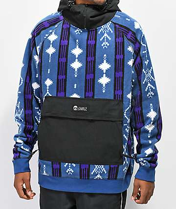 Gnarly Faktor Thalia Print Fleece Anorak Hoodie